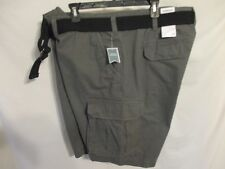 Sonoma BIG 46 W 100% Cotton Belted Gray Cargo Shorts SR$60 NEW