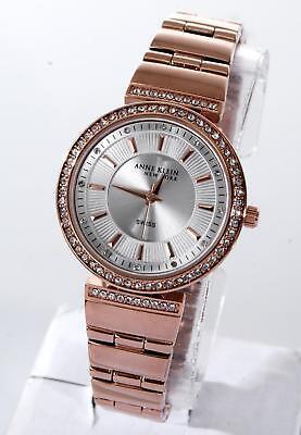 Anne Klein New York 12/2258SVRG Swarovski Crystal Rose Gold Tone Watch, NIB