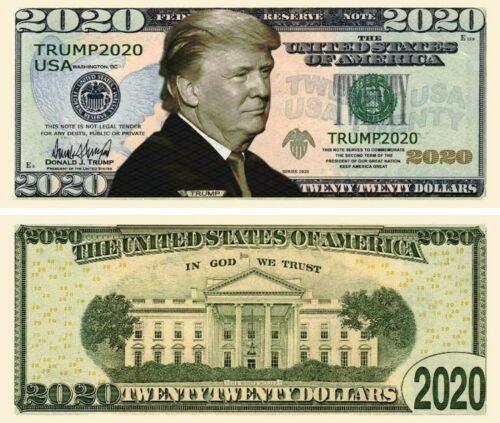 50 pcs Donald Trump 2020 Dollar Bill Presidential MAGA Novelty Funny Money
