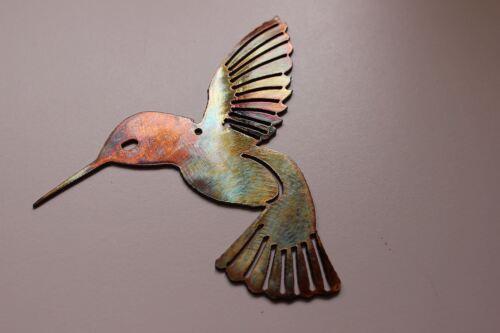 "Hummingbird Pair Metal Wall Art Decor Pair of 2 6/"" x 6/"""