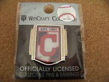 2015 Cleveland Indians logo vertical banner lapel pin MLB