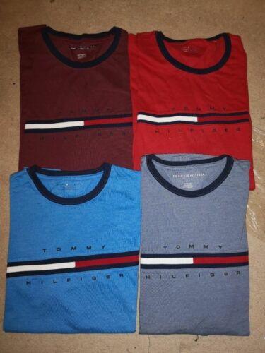 NEW Tommy Hilfiger Mens T-Shirt Big Logo Short Sleeve Graphic Tee Flag Crew Neck