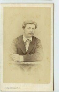 Vintage-CDV-Handsome-French-Man-Mustache-J-Tresorier-Photo-Nantes