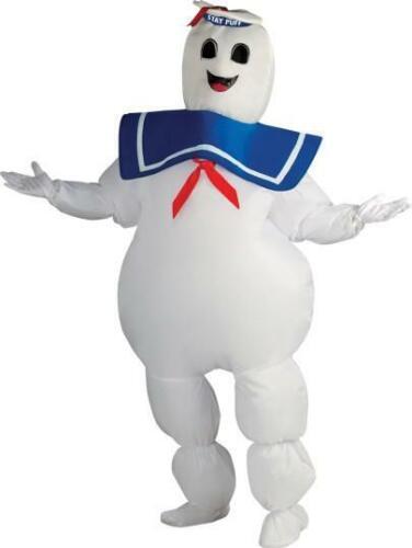 Homme Années 1980 Ghostbusters Marshmallow Man Costume Déguisement Std