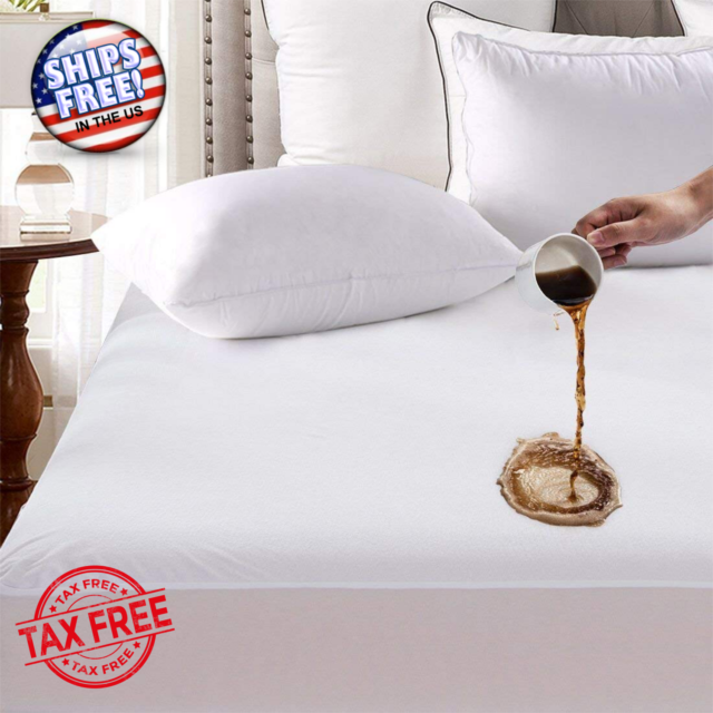 King Size Mattress Cover Bed Bug Protector Waterproof Fitted Pad