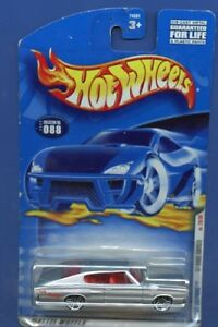 2000 Hot Wheels First Editions Silver /'67 Dodge Charger Card #88 New Card Design