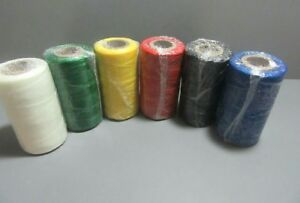 Waxed String 250yds fowl,Poultry, Multiple Colors (SINGLE ROLL)