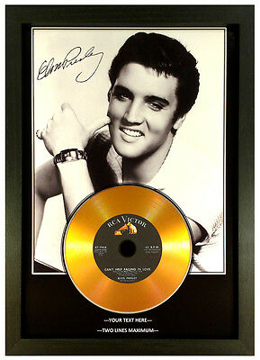 ELVIS PRESLEY **ADD YOUR PERSONAL MESSAGE** SIGNED GOLD DISC DISPLAY.