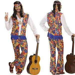 COOLES HIPPIE KOSTÜM für HERREN 60er 70er Jahre Woodstock Flower Power