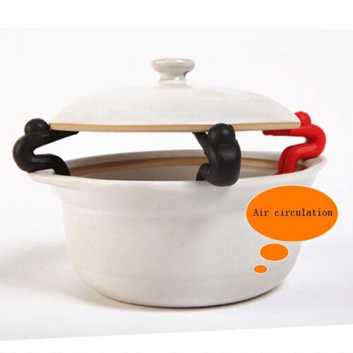 2PCS Silicone titulaire cuisine gadget Spill-Proof couvercle cuisine Baguettes Reste