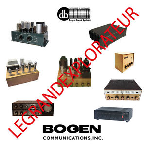 Details about Ultimate Bogen David Bogen Repair Service Manual Schematics  500 manuals on DVD