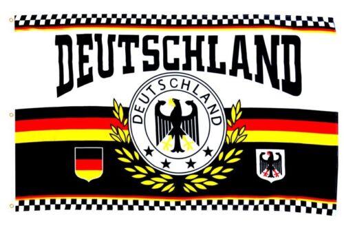 Flagge Deutschland Lorbeerkranz 4 Sterne 150x250cm Fußball XXL Fahne WM
