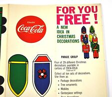 Coca-Cola Coke Handicraft sheets Weihnachtsdeko USA Christmas Decoration Parade