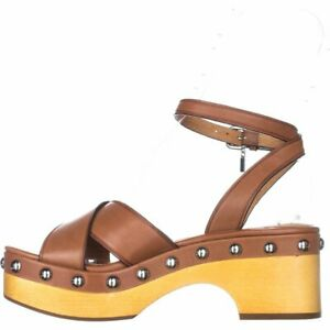Coach-Womens-Astor-Leather-Open-Toe-Special-Occasion-Platform-Saddle-Size-9-5