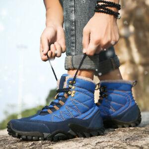 Para-Hombres-Zapatos-De-Senderismo-Botas-informales-transpirables-atleticos-de-algodon-de-nieve-de