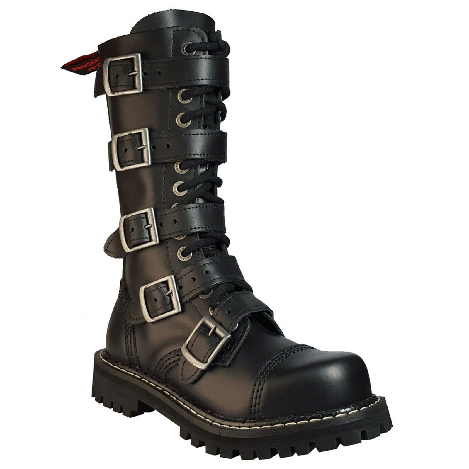Angry Itch 5-Buckle 14 fori 5-Buckle Itch Gothic Punk Army Ranger Pelle Esercito Stivali con RV & 6f9bed