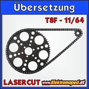Ersatzteil Elektro-Scooter 11/64 T8F Komplettübersetzung Berg mit Ritzel und Las