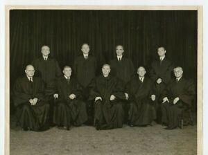 8-x-10-Press-Photo-Justices-of-The-Supreme-Court-Circa-1948-Fred-M-Vinson-Chief