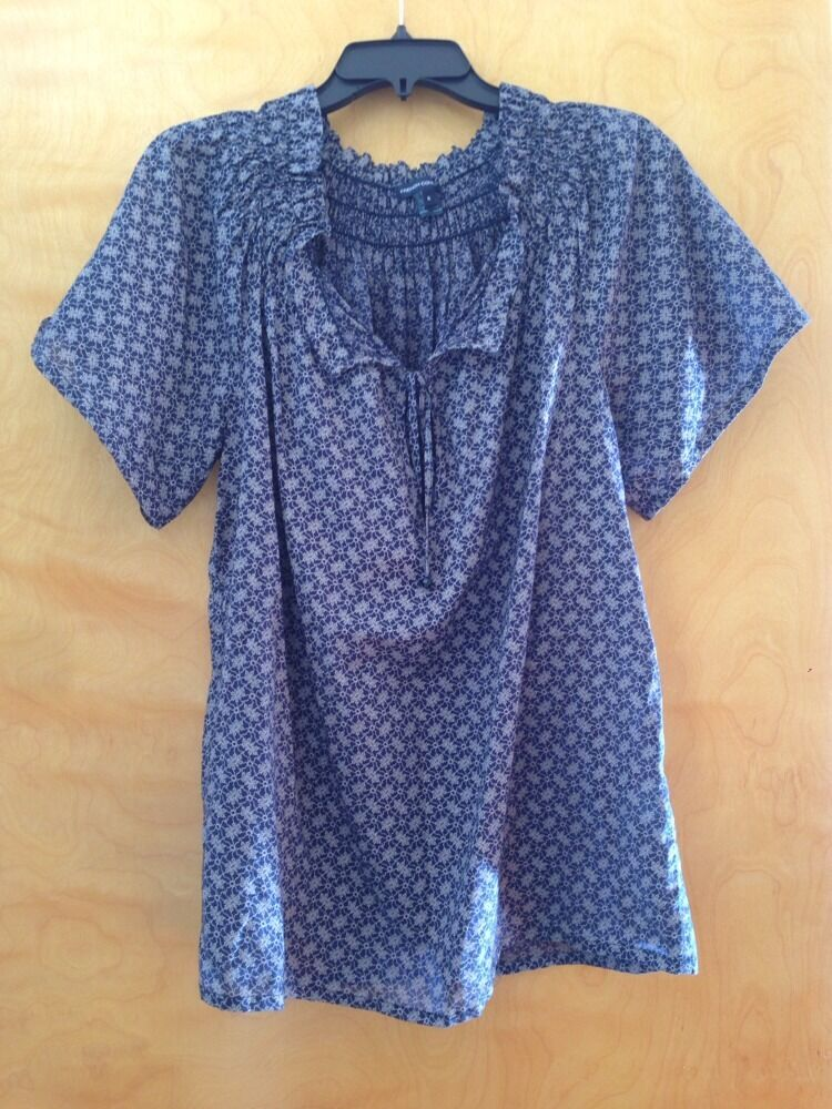 NWOT French Connection Printed Top Blouse, Sz 6