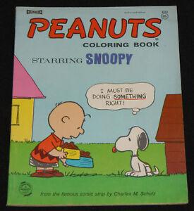 1968 Saalfield PEANUTS COLORING BOOK Starring Snoopy VF - Unused ...