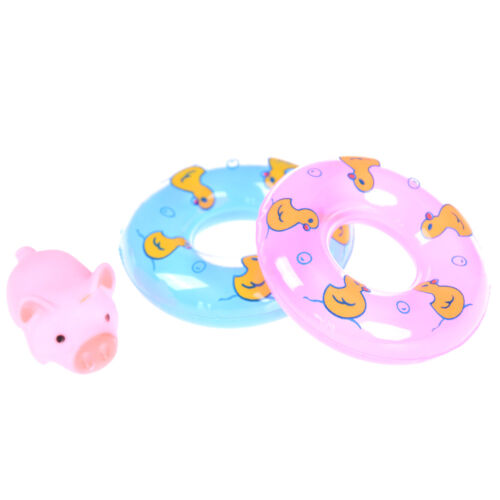 2pcs Swimming Ring 1pc Pig Rubber Floating Swimming Water Squeeze Bathing Toy