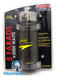 Details about SSCAP5M STINGER CAR 5000 WATTS CAP 5 FARAD DIGITAL POWER  AMPLIFIER CAPACITOR NEW