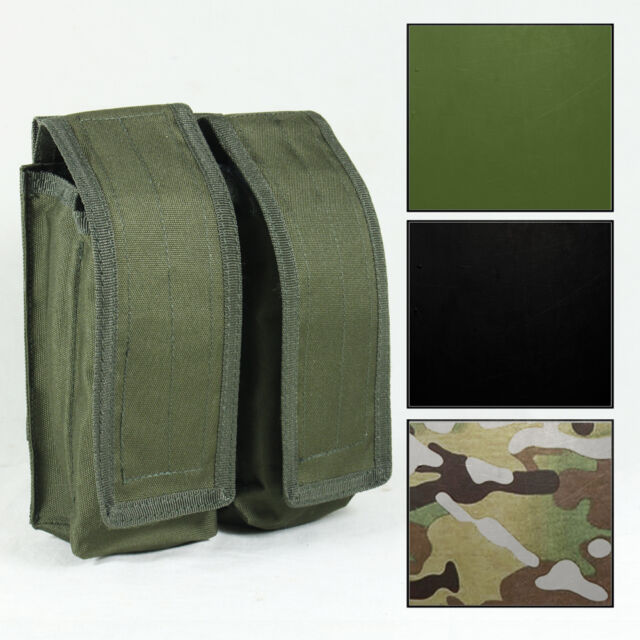 NEW Tactical MOLLE DOUBLE AK47 MAG MAGAZINE AMMO POUCH Airsoft - Colour Option