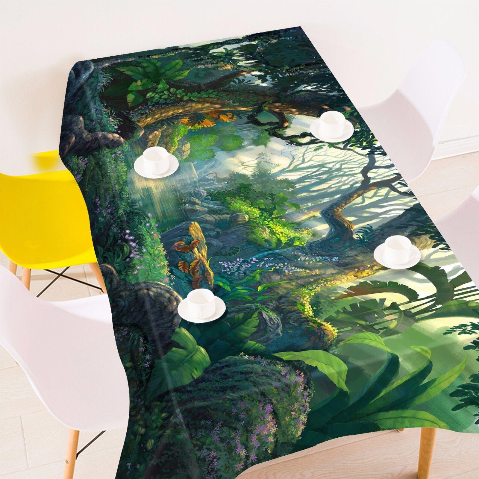 3D Vert 42 Nappe Table Cover Cloth fête d'anniversaire AJ papier peint Royaume-Uni Citron