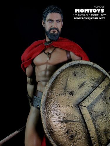 "1//6 Momtoys M006 Ancient Greek Warrior Sparta King Leonidas 12/"" Action Figure"