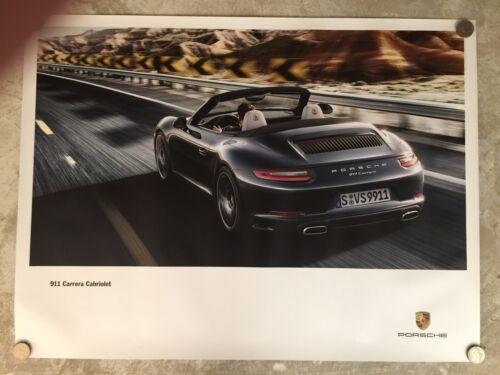 2015 Porsche 911 Carrera Cabriolet Showroom Advertising Sales Poster RARE! L@@K