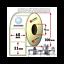 Rotolo-da-3000-etichette-adesive-mm-68x55-Carta-vellum-1-pista-anima-76-colla-fo