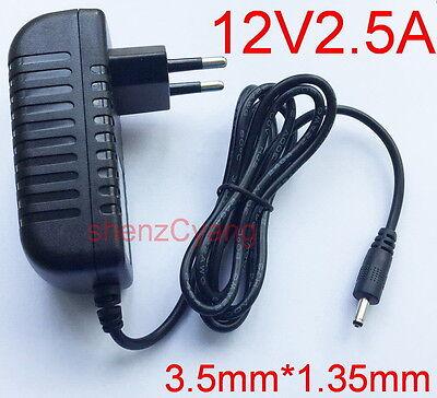 AC Adapter DC 12V 2.5A Switching power supply EU plug 2500mA DC 3.5mm x 1.35mm