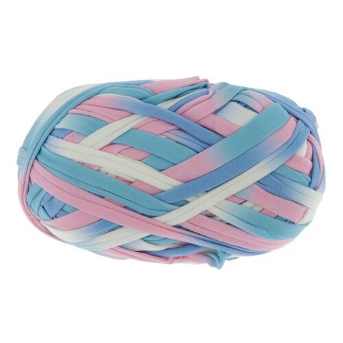 100g Multicolor Textilgarn Bändchengarn Stoffgarn zum Häkeln Stricken,