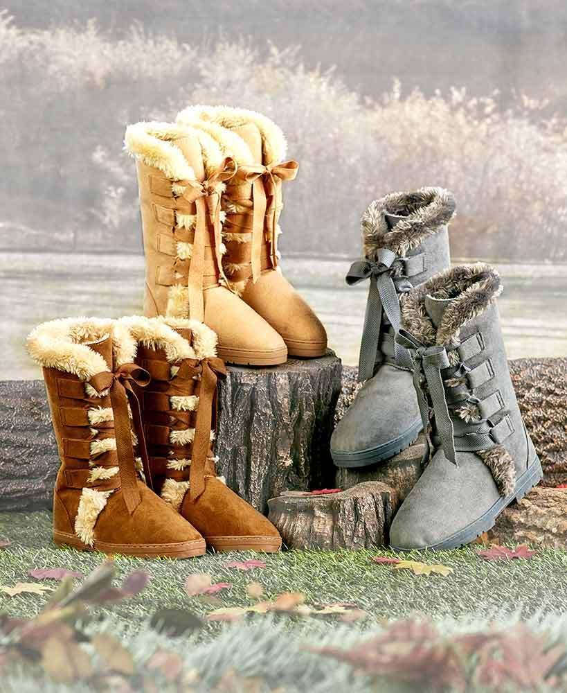 Women's Lace-Up FAUX FUR Winter Boots