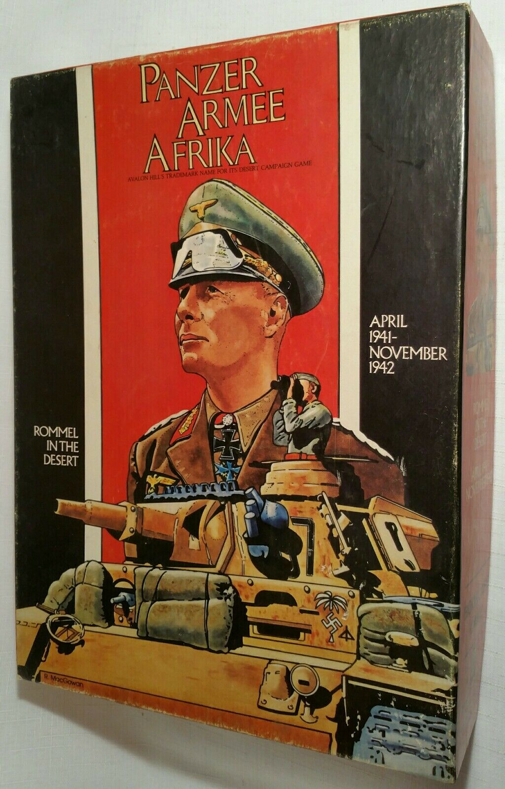 Avalon  Hill Panzer Armee Afrika 1982 UNPUNCHED completare  vendita online