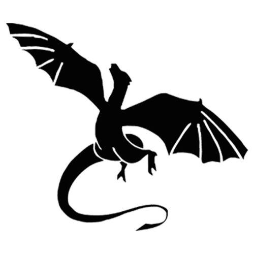 2PCS Dragon with Wings Sticker Window Wall Windscreen Laptop Bumper Car Vinyl
