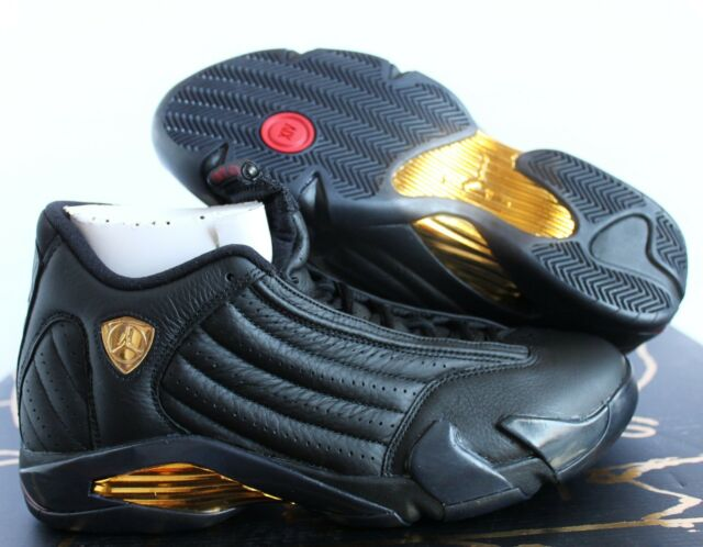 new concept 74e53 5c3db Nike Air Jordan 14 Defining Moment Package DMP Black-gold Sz 8 487471-022