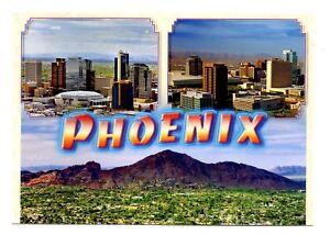 Details About Phoenix Arizona Postcard Downtown New Skyline Restaurants Museums Houses
