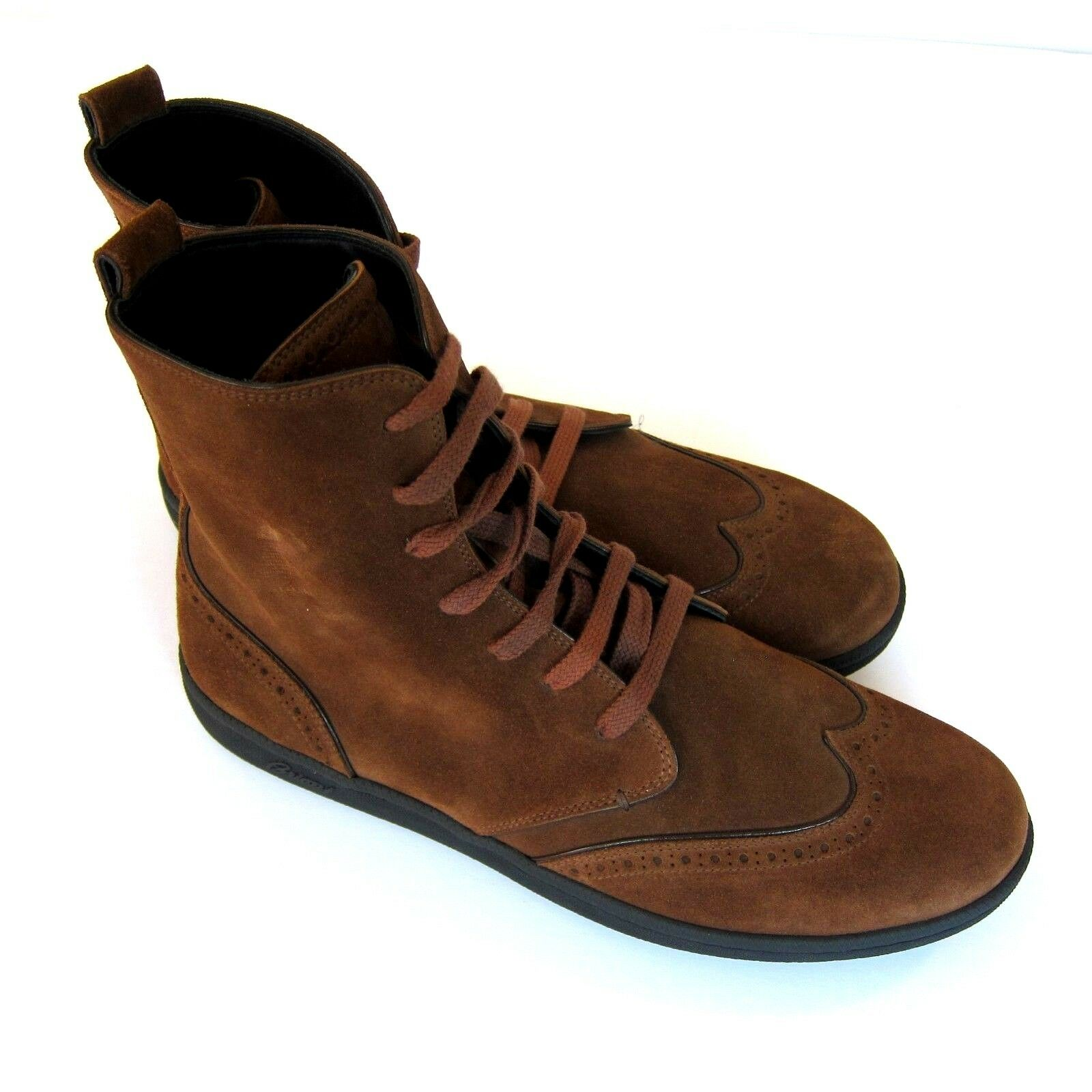 J-3485192 New Brioni Suede marrone Lace Chukka Ankle Boot Shoe US 9.5 Marked 8.5