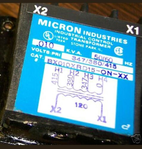 4-pc lot 415//380//347-120V MICRON CONTROL TRANSFORMER SMALL DRAW NEW 4 PC