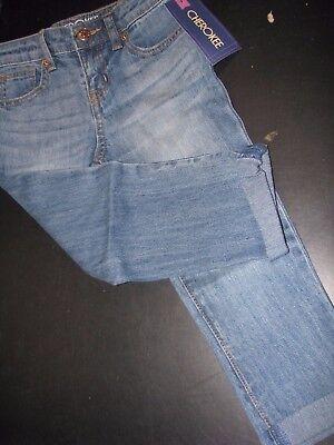 Cherokee Lafayette Girls Denim Boyfriend Crop Jeans NWT Size Girls 5