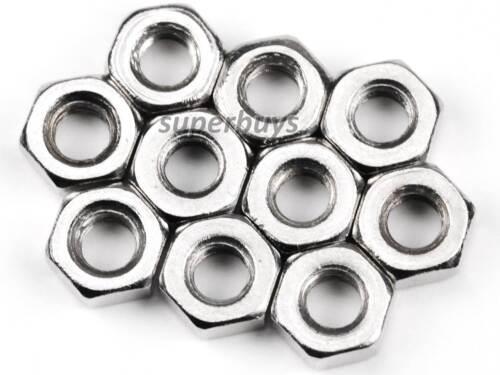 10pcs M2.5 Stainless Steel Hex Nuts Metric Threaded Standard Fasteners Lock Tool