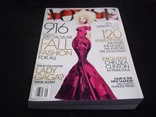 2012 SEPTEMBER VOGUE MAGAZINE - LADY GAGA - BEAUTIFUL FRONT COVER - D 1508