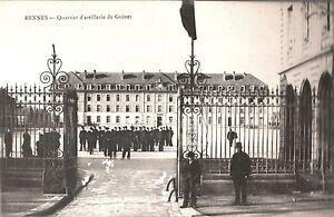 CARTOLINA-RENNES-Quartier-d-039-artillerie-de-Guines-1905-ca