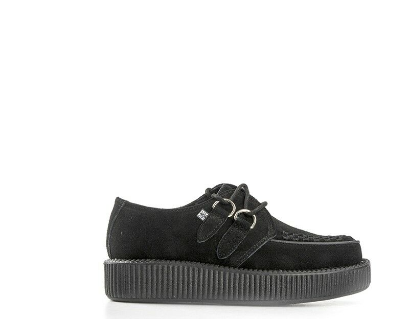 shoes TUK women Creepers  black black Scamosciato V7270-NE