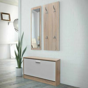 Image Is Loading Hallway Furniture Set Shoe Storage Bench Coat Rack