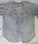 Vintage-3X-Monique-Fashions-Acid-Wash-Denim-Top-with-Baubles-and-Rhinestones thumbnail 3
