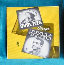 BURL IVES - VINYL LP - BURL IVES SINGS IRVING BERLIN