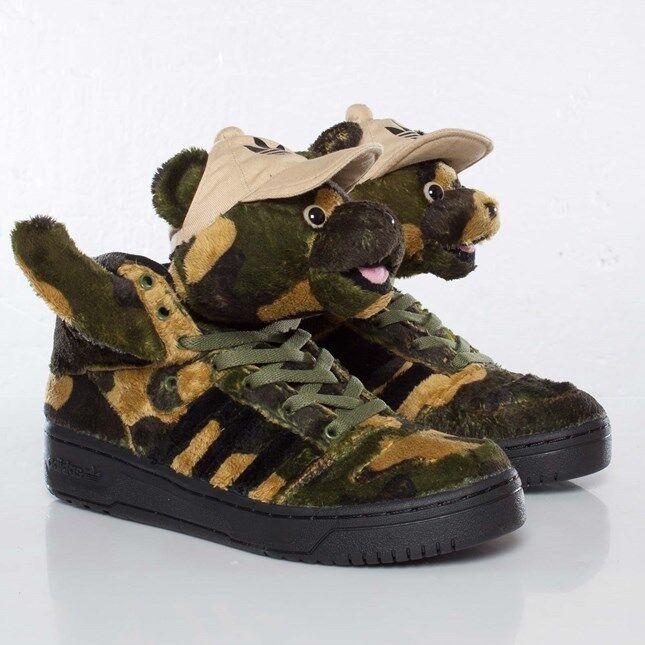Nuevas Adidas Adidas Nuevas Obyo Jeremy Scott JS CAMO BEAR Q20917 Tiger alas Hombre Calzado 10 US a4a8fa