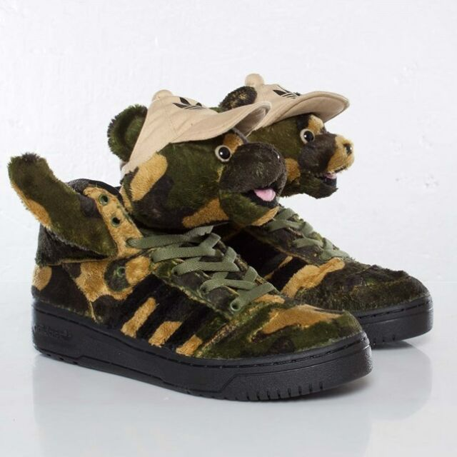 the best attitude e6c2d 61187 NEW Adidas ObyO Jeremy Scott JS Camo Bear Q20917 tiger wings mens shoe 8.5  - 11
